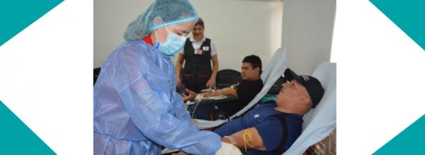 MÁS DE TREINTA COLABORADORES PARTICIPARON DE LA JORNADA DE DONACIÓN