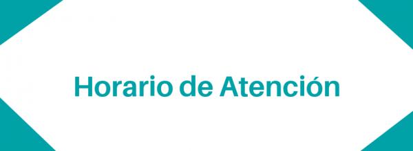 HORARIO DE ATENCIÓN.