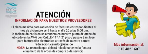 ATENCIÓN: INFORMACIÓN DE INTERÉS